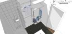 Salle de bain, vue sur les rangements